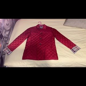 Girls Quilted Burberry Jacket Size 14Y
